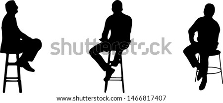People  sitting on chair at bar counter Stock foto ©