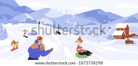 people snowboarding and riding