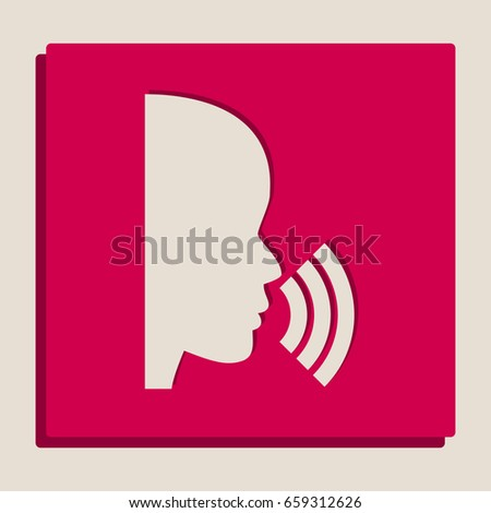 people speaking or singing sign
