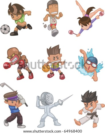 people sport - stock vector