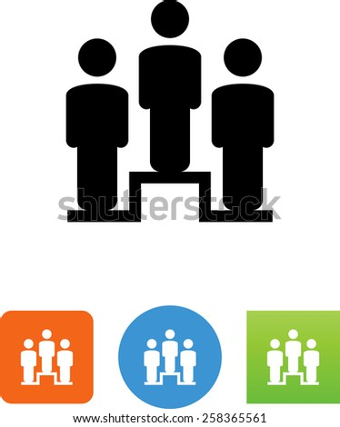 People standing on a platform icon