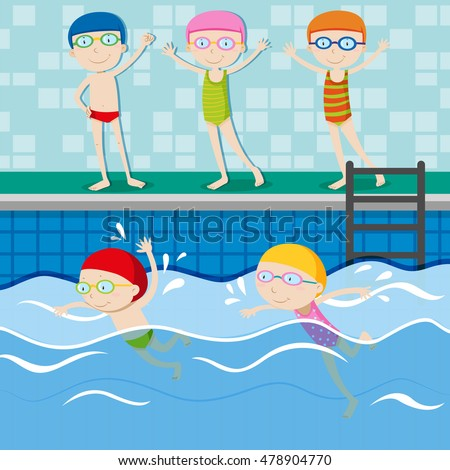 14 swimming pool clipart vectors download free vector art graphics 123freevectors Valentine pool swimming lessons