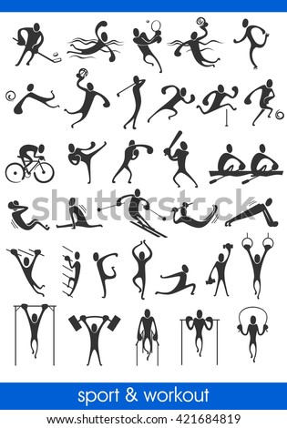 people symbols, representing different sport activities and athletics Stock photo ©
