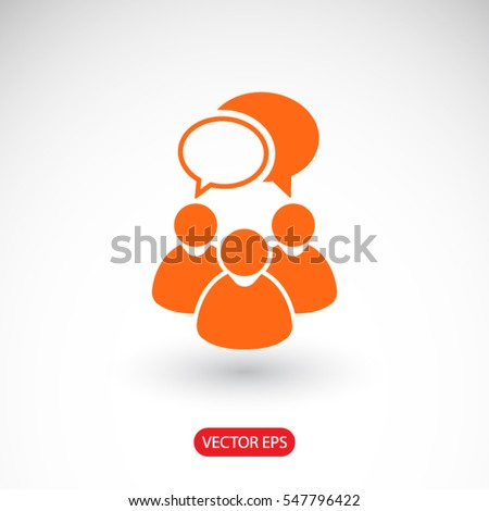 People talking  icon. One of set web icons