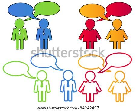 people  talking, vector illustration