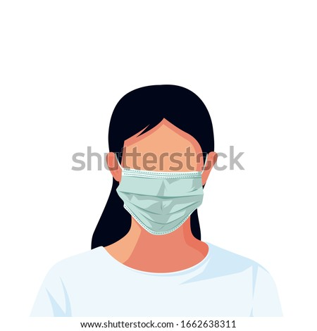 People using Safety breathing masks Corona Virus. Industrial safety N95 mask, dust protection respirator and breathing medical respiratory mask. Hospital or pollution protect face masking. - vector