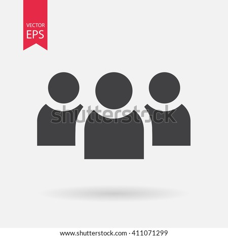 People vector icon, Group, chat. Add new user account concept. Sign Isolated on white background. Trendy Flat style for graphic design, logo, Web site, social media, UI, mobile upp, EPS10