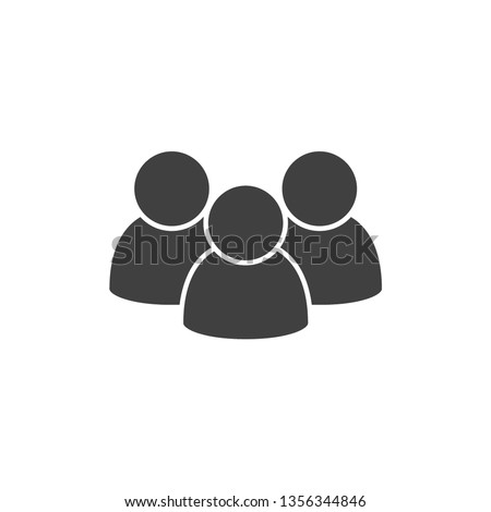 People vector icon. Group of humans sign