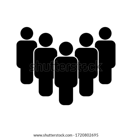 People vector icon Isolated on white background