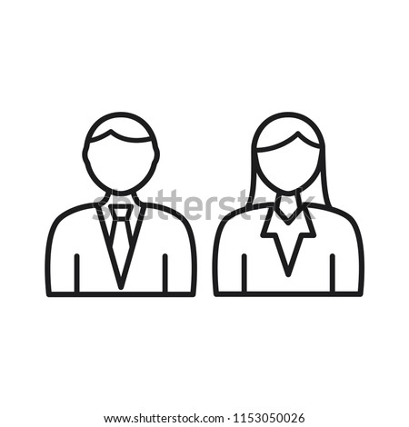people vector icon, person symbol