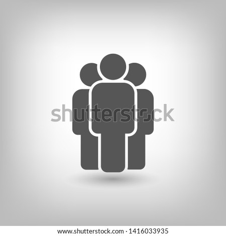 People vector icon. Person symbol. Work Group Team, Persons Crowd Vector Illustration icon. Group of people pictogram isolated. Illustration of people icon - symbol of the crowd. People standing next