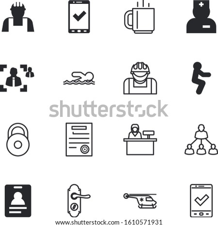 people vector icon set such as: sea, sky, employee, square, mug, rounded, authentication, doctor, activity, portrait, search, teacher, teenager, stethoscope, cafe, breakfast, pass, attorney