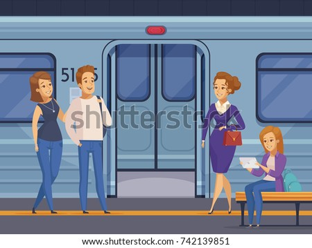people waiting at subway