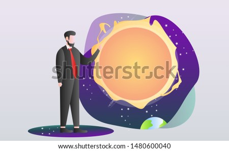 People who study astrology and astronomy in the planetarium