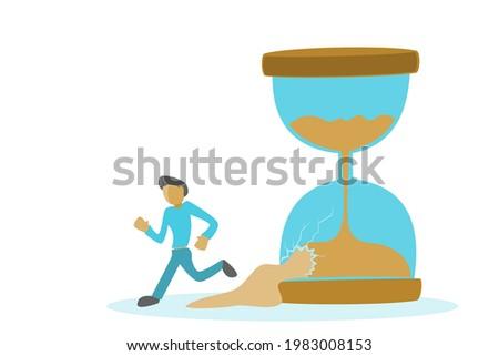people with broken hourglass