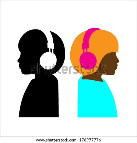 people with headphones