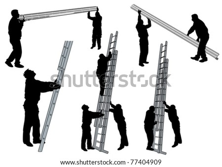 people with ladder