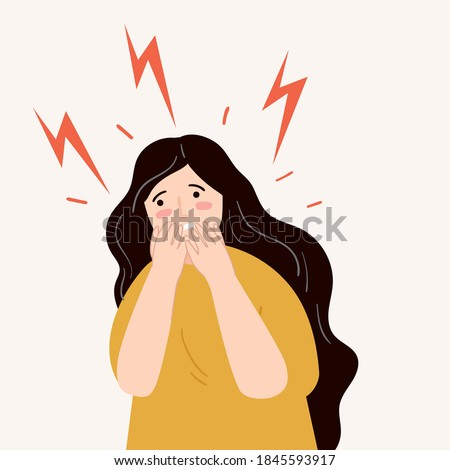 people with panic attack. Nervous, afraid, stressed, frustated, scared concept.  Foto stock ©
