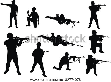 people with the weapon
