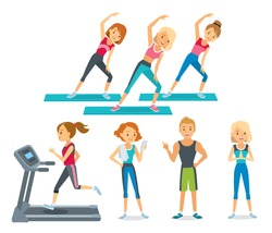 people work out in the fitness club