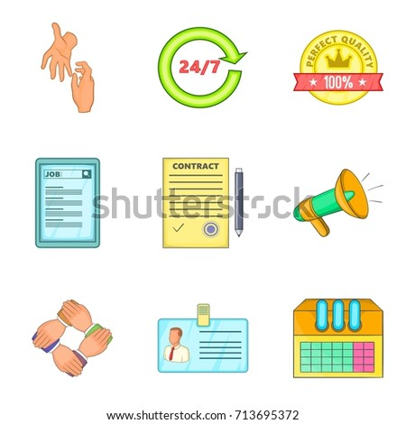 people work support icon set