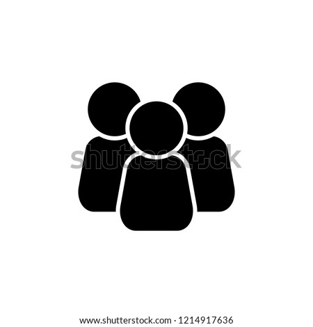 peoples icon. One of simple collection icons for websites, web design, mobile app
