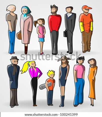 Peoples vector illustration