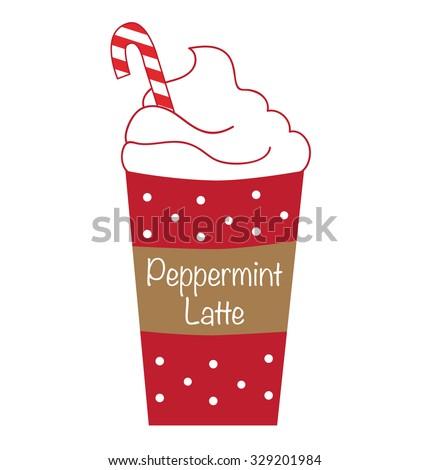 peppermint latte coffee