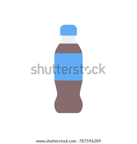 Pepsi bottle drinks flat icon