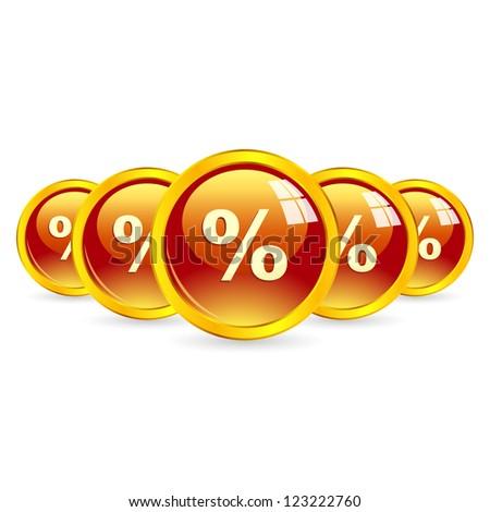 Percent buttons.