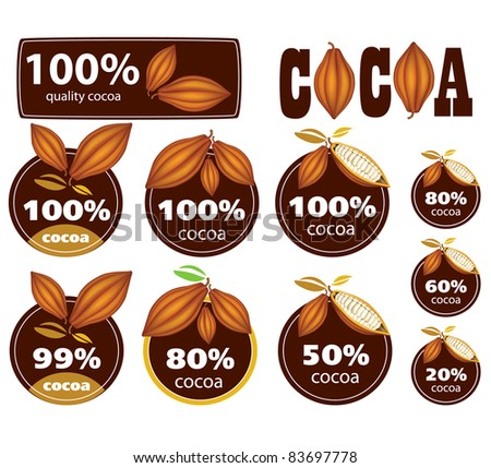 Percent Cocoa Seal / Mark / Icon.