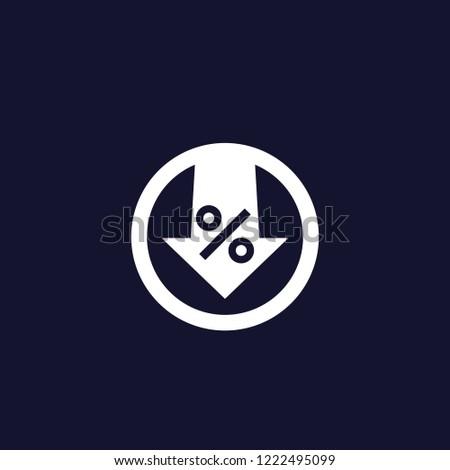 percent down vector icon