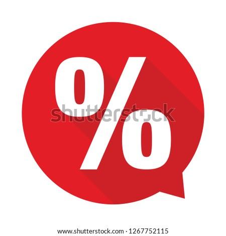 Percent sign label sale