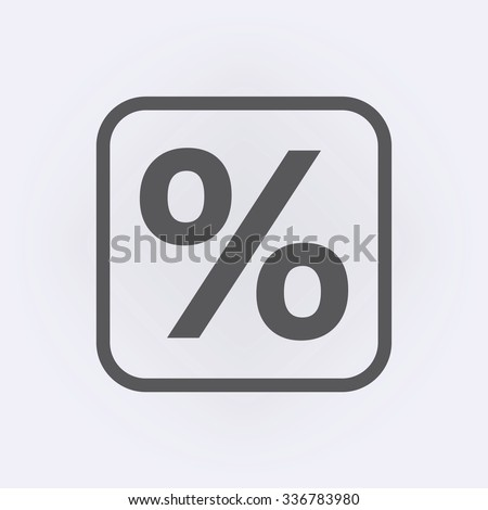 Percent sign . Vector illustration