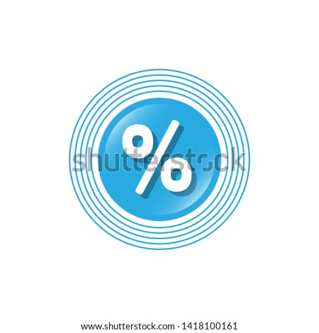 percent symbol and glossy button.glossy label,sign.