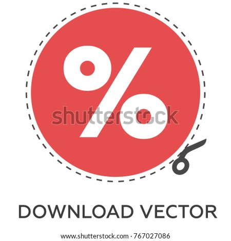 percent vector icon