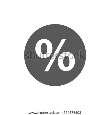 Percentage icon. Simple illustration of percentage vector icon isolated on white background