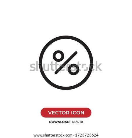 Percentage icon vector. Discount sign Foto stock ©