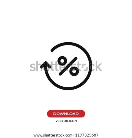 Percentage icon vector illustration. Business,finance symbol. Flat vector sign isolated on white background. Simple vector illustration for graphic and web design.