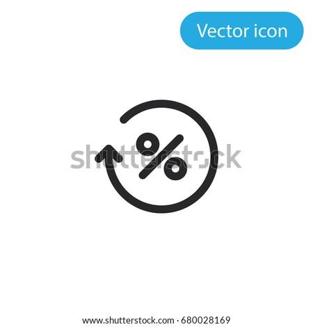 Percentage vector icon, illustration symbol