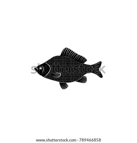 perch icon fish and sea