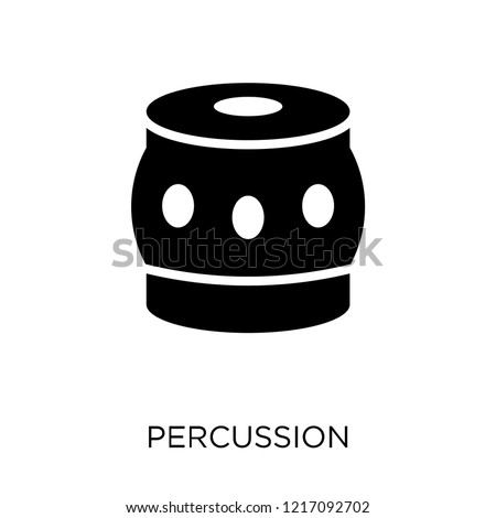Percussion icon. Percussion symbol design from Music collection. Simple element vector illustration on white background.