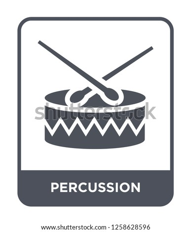percussion icon vector on white background, percussion trendy filled icons from Music and media collection, percussion simple element illustration