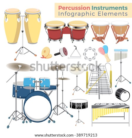 Percussion instruments Info Elements