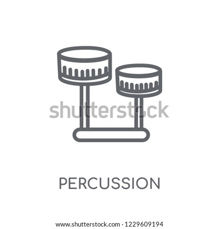 Percussion linear icon. Modern outline Percussion logo concept on white background from Music collection. Suitable for use on web apps, mobile apps and print media.