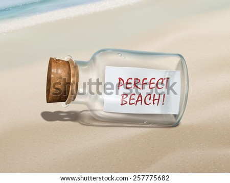 perfect beach message in a