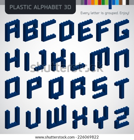 perfect 3d alphabet from the