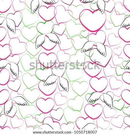 perfect female seamless pattern