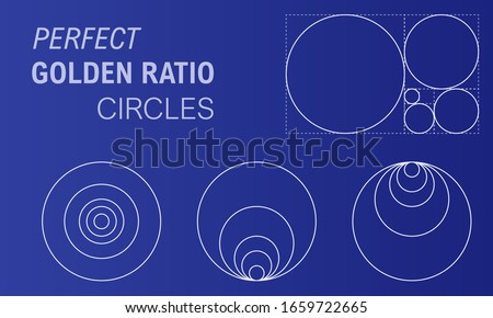 perfect golden ratio circles