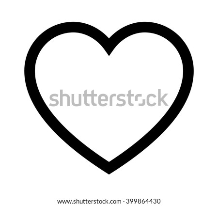 Perfect heart / romantic love line art vector icon for dating apps and websites